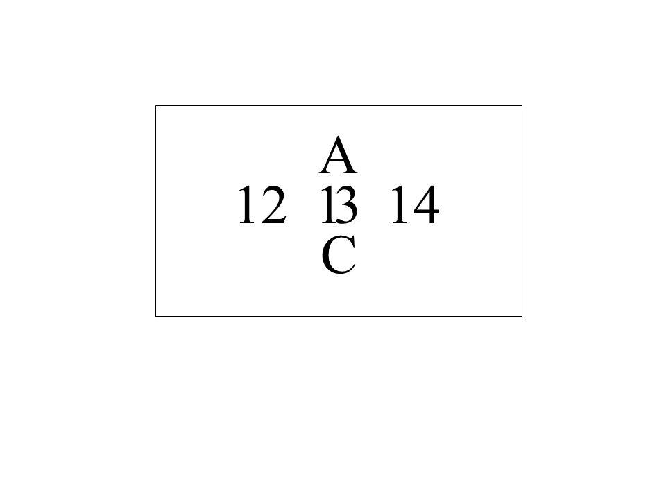 12 14 A C 13