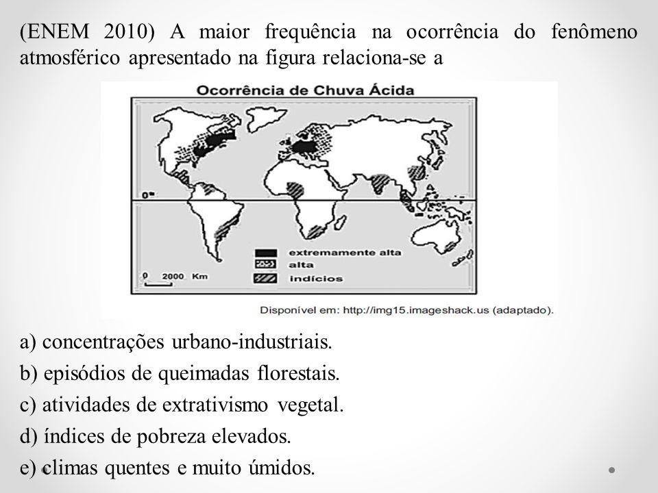 (ENEM 2010) A maior frequência na ocorrência do fenômeno atmosférico apresentado na figura relaciona-se a a) concentrações urbano-industriais. b) epis