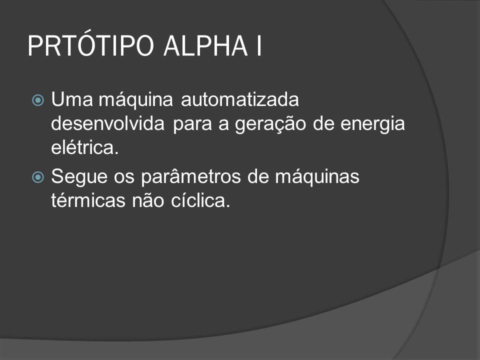 PRTÓTIPO ALPHA I Uma máquina automatizada desenvolvida para a geração de energia elétrica. Segue os parâmetros de máquinas térmicas não cíclica.