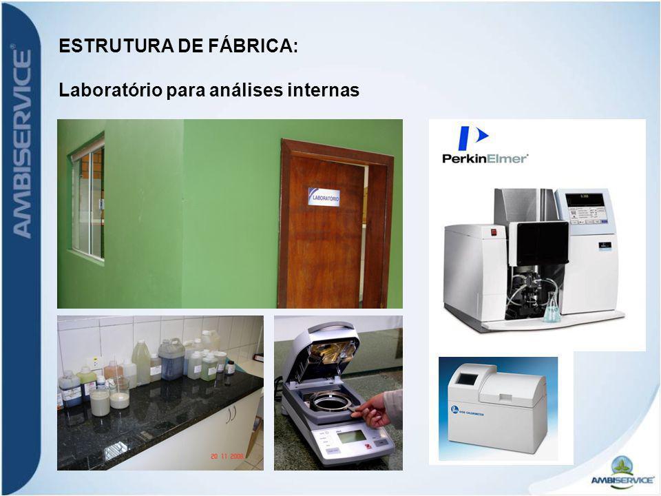 ESTRUTURA DE FÁBRICA: Laboratório para análises internas
