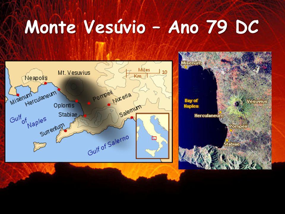 Monte Vesúvio – Ano 79 DC