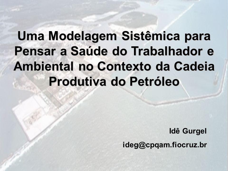 Uma Modelagem Sistêmica para Pensar a Saúde do Trabalhador e Ambiental no Contexto da Cadeia Produtiva do Petróleo Idê Gurgel ideg@cpqam.fiocruz.br