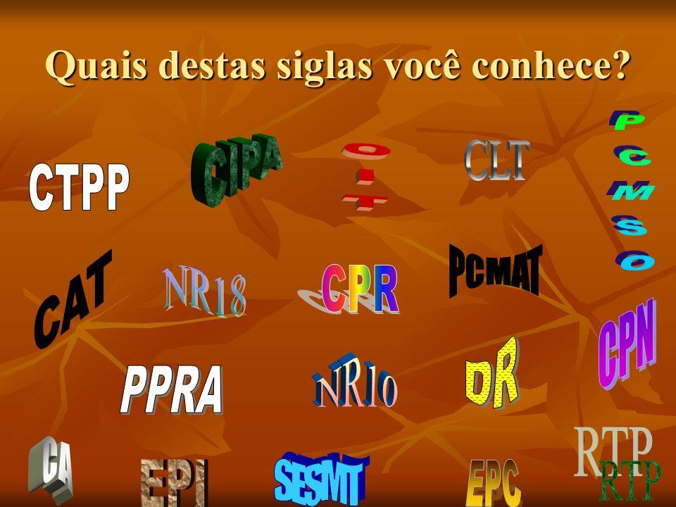 Quais destas siglas você conhece?