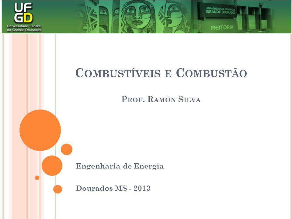 C OMBUSTÍVEIS E C OMBUSTÃO P ROF. R AMÓN S ILVA Engenharia de Energia Dourados MS - 2013