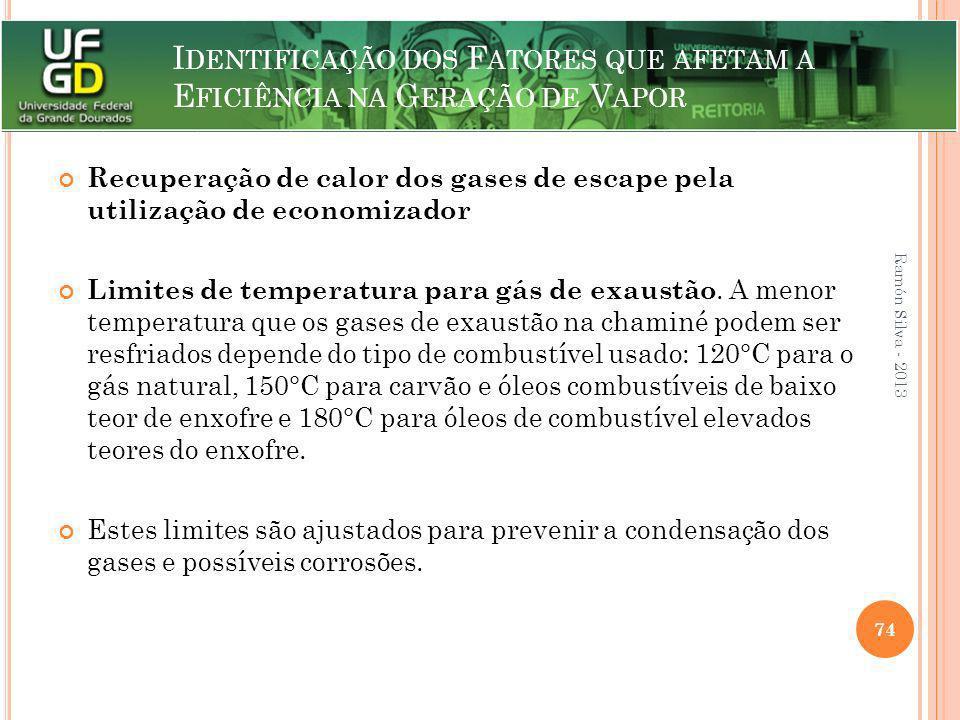 I DENTIFICAÇÃO DOS F ATORES QUE AFETAM A E FICIÊNCIA NA G ERAÇÃO DE V APOR Recuperação de calor dos gases de escape pela utilização de economizador Li