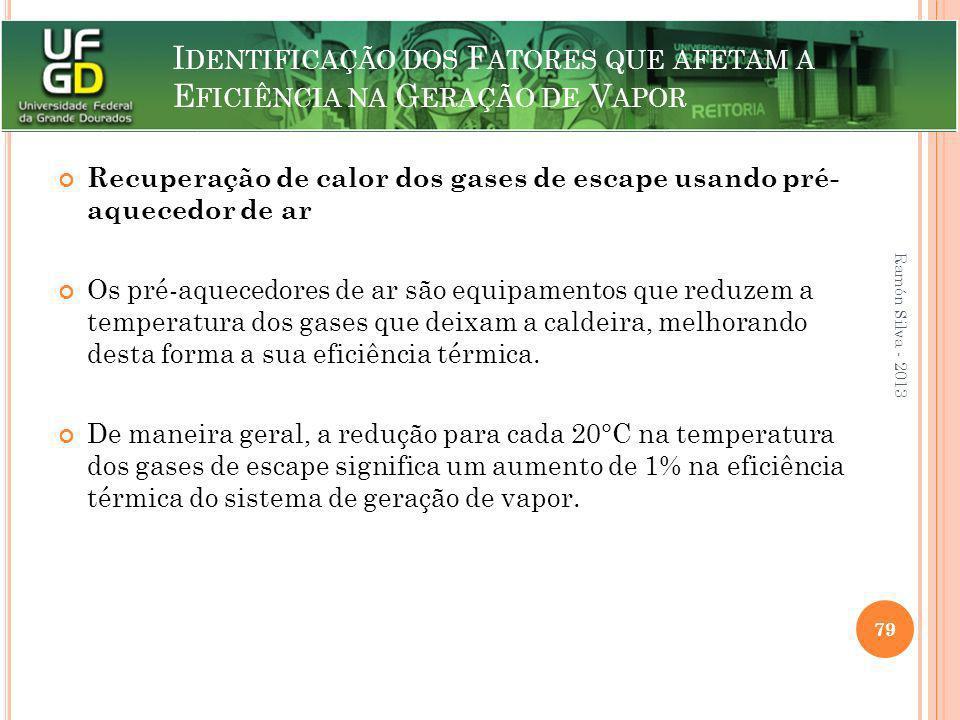 I DENTIFICAÇÃO DOS F ATORES QUE AFETAM A E FICIÊNCIA NA G ERAÇÃO DE V APOR Recuperação de calor dos gases de escape usando pré- aquecedor de ar Os pré