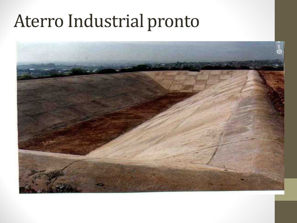 Aterro Industrial pronto