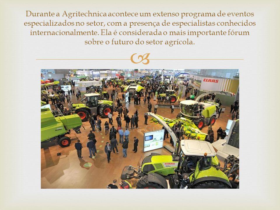 Durante a Agritechnica acontece um extenso programa de eventos especializados no setor, com a presença de especialistas conhecidos internacionalmente.