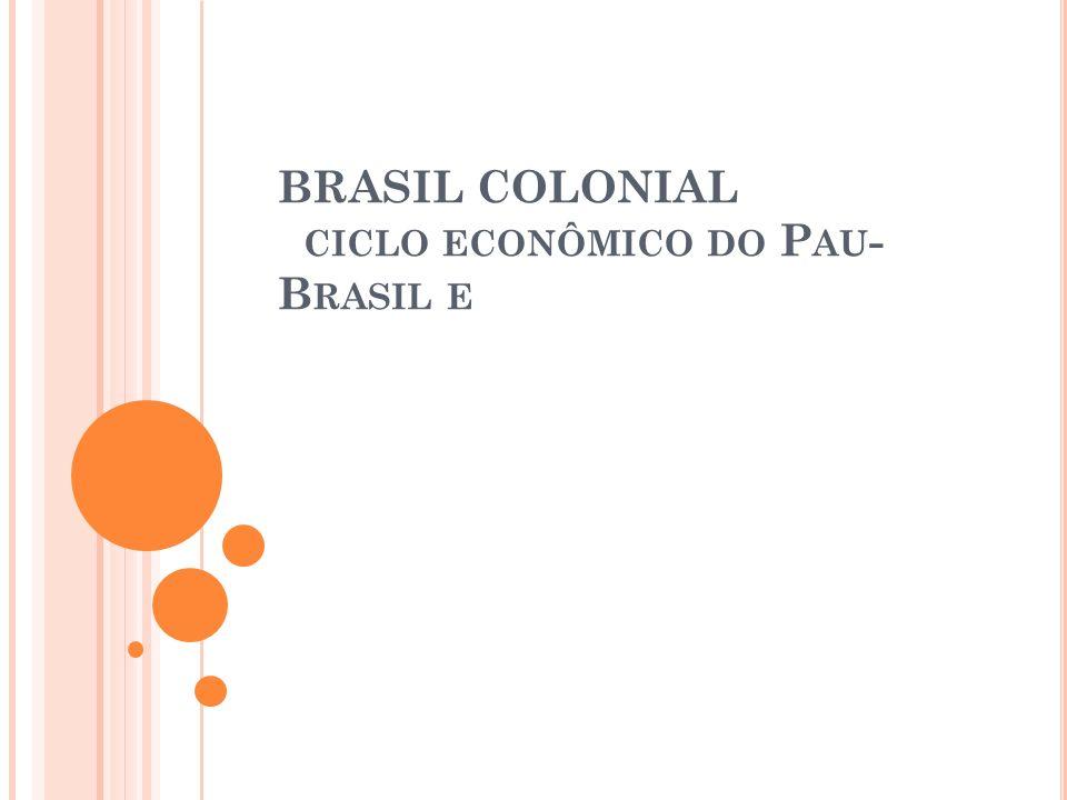 BRASIL COLONIAL CICLO ECONÔMICO DO P AU - B RASIL E