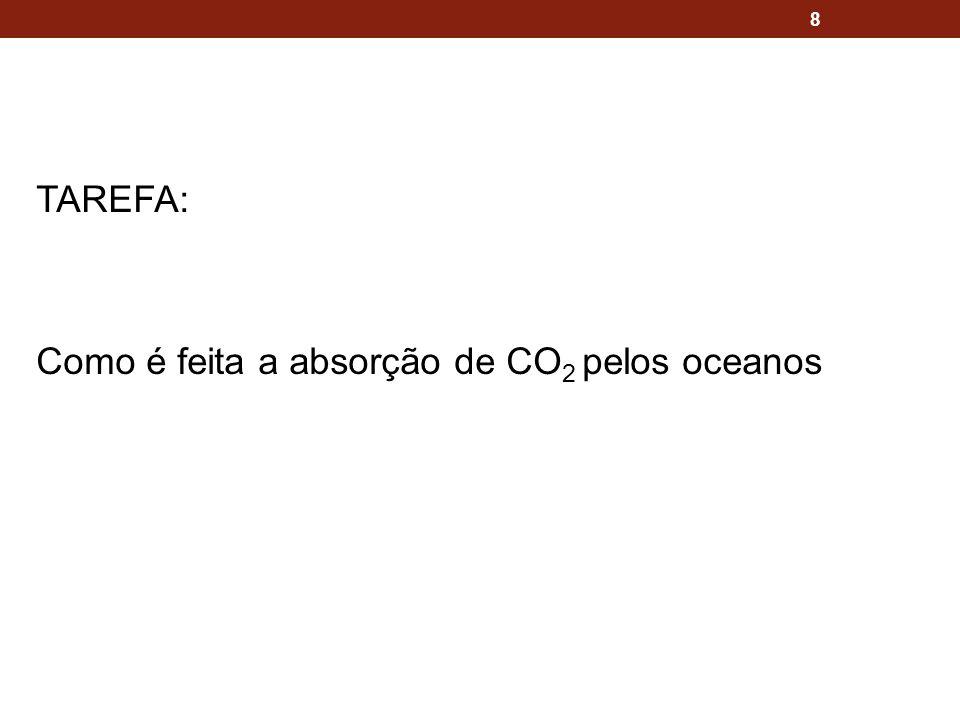 TAREFA: Como é feita a absorção de CO 2 pelos oceanos 8