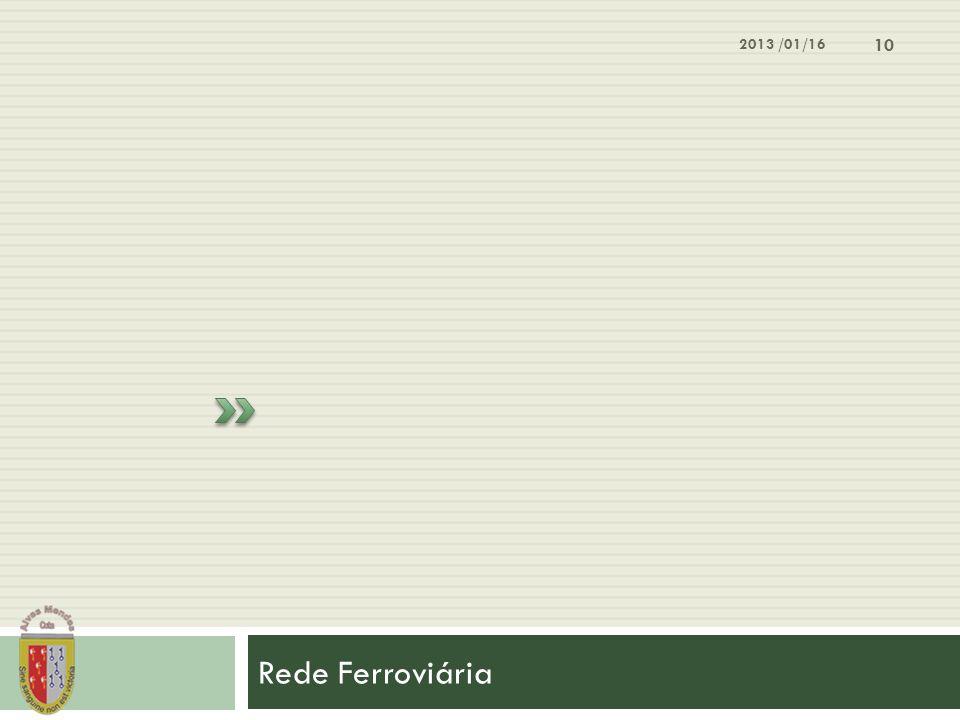 Rede Ferroviária 2013 /01/16 10