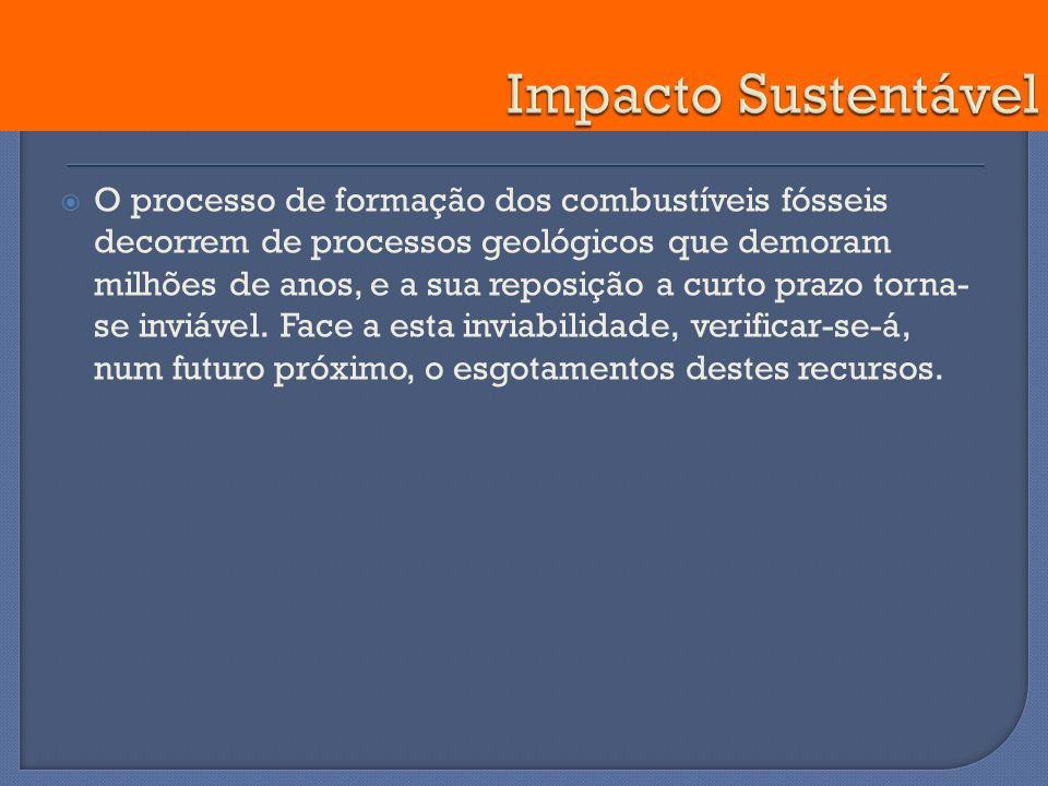 O processo de formação dos combustíveis fósseis decorrem de processos geológicos que demoram milhões de anos, e a sua reposição a curto prazo torna- s
