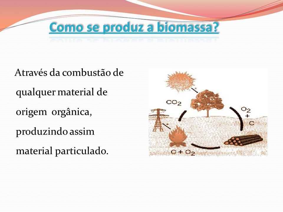 Através da combustão de qualquer material de origem orgânica, produzindo assim material particulado.