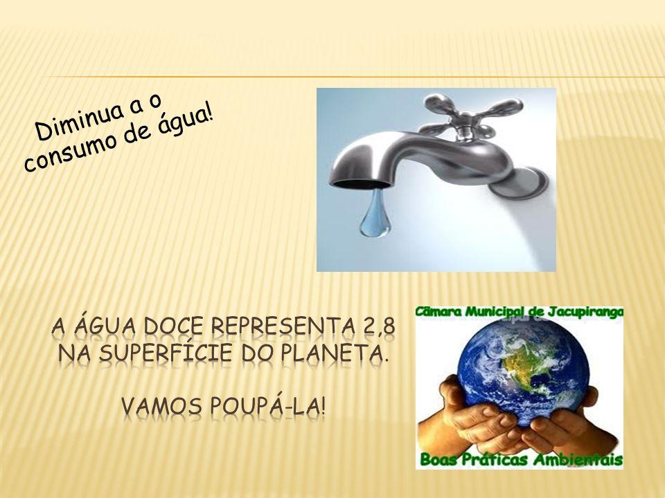 Diminua a o consumo de água!
