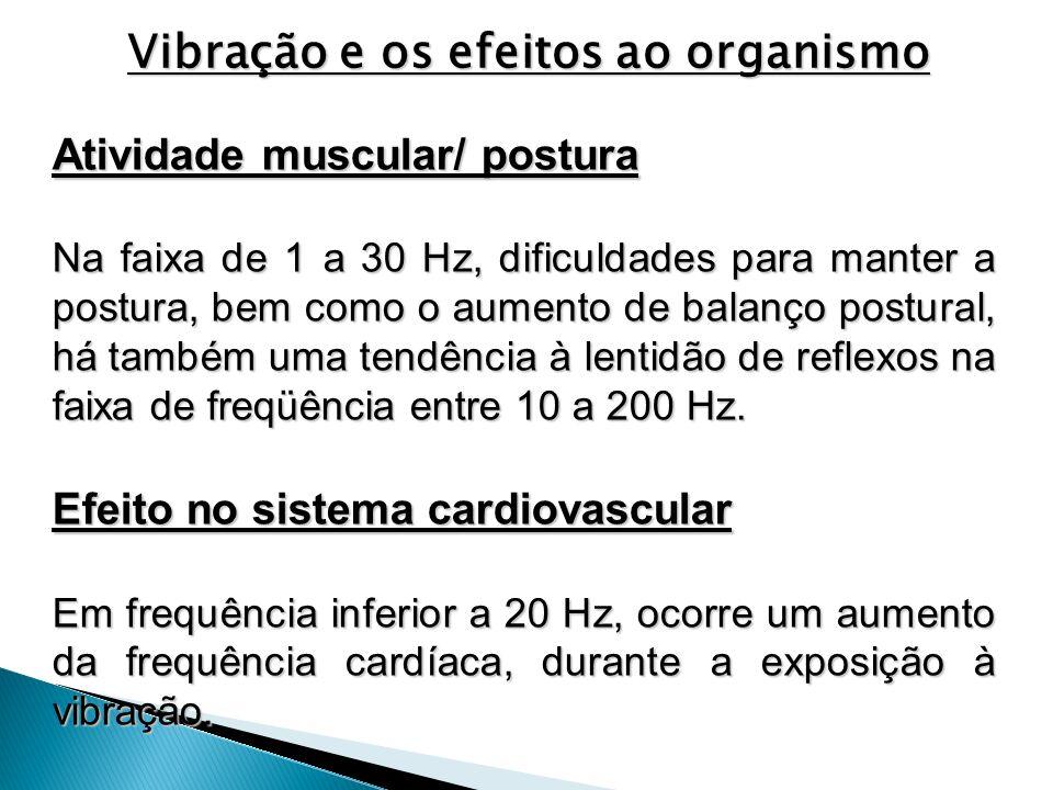 Atividade muscular/ postura Na faixa de 1 a 30 Hz, dificuldades para manter a postura, bem como o aumento de balanço postural, há também uma tendência