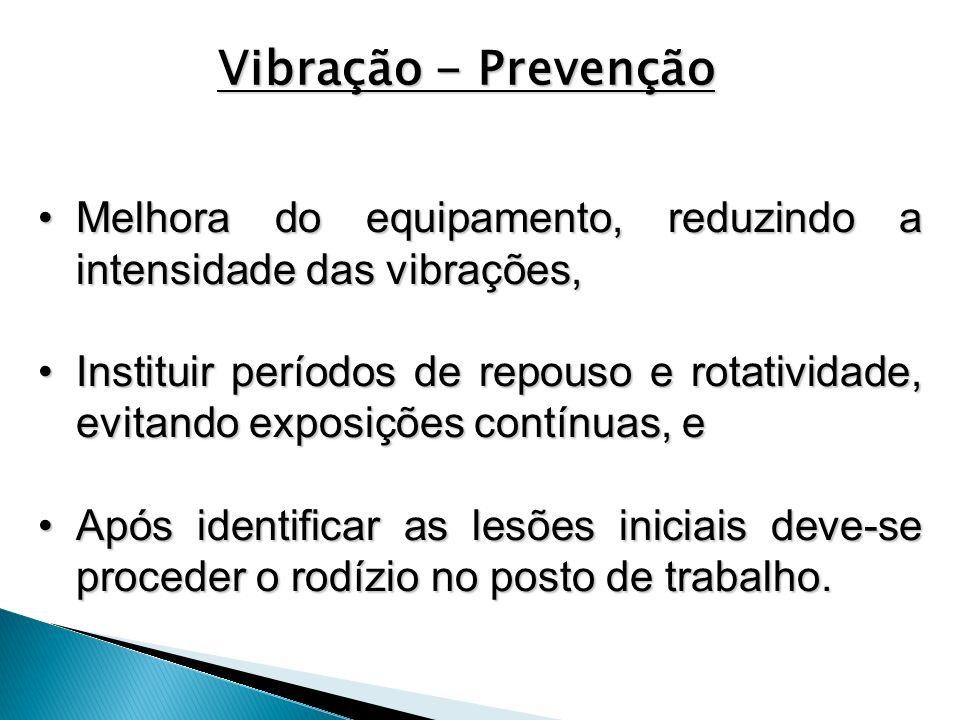 Melhora do equipamento, reduzindo a intensidade das vibrações,Melhora do equipamento, reduzindo a intensidade das vibrações, Instituir períodos de rep