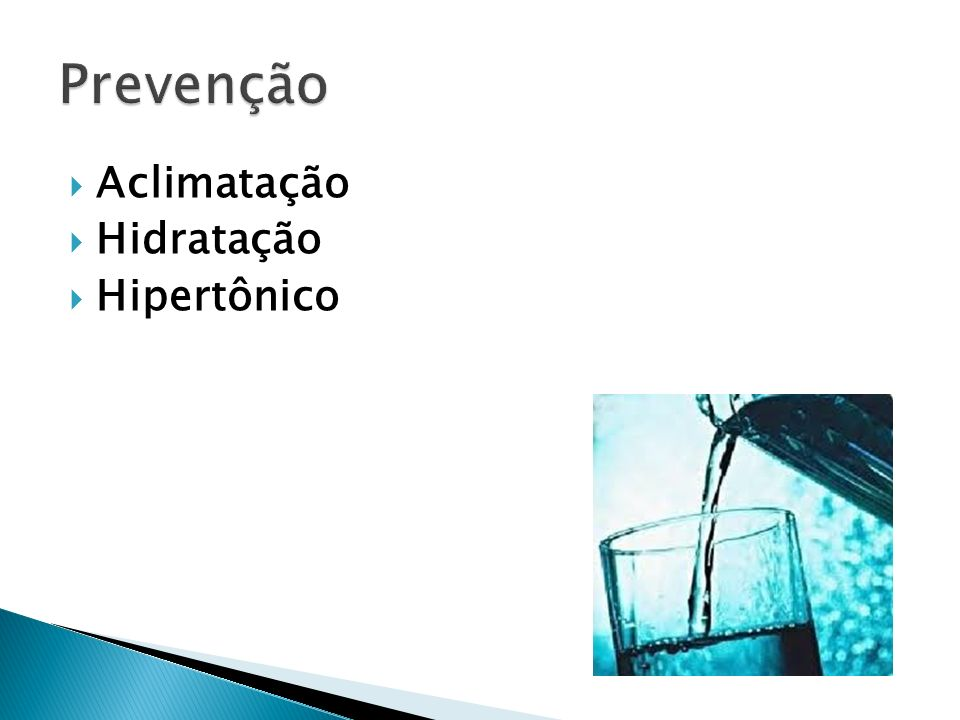 Aclimatação Hidratação Hipertônico