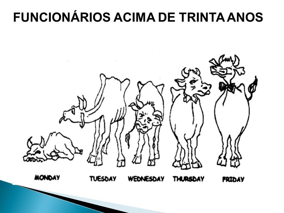 FUNCIONÁRIOS ACIMA DE TRINTA ANOS