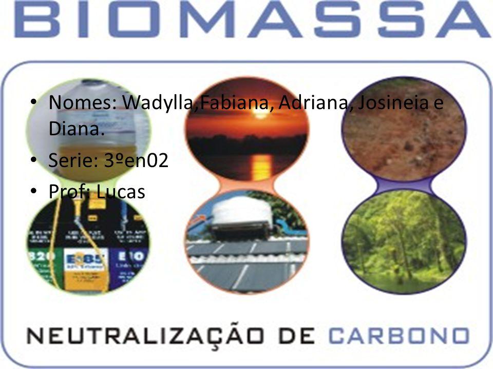 Nomes: Wadylla,Fabiana, Adriana, Josineia e Diana. Serie: 3ºen02 Prof: Lucas