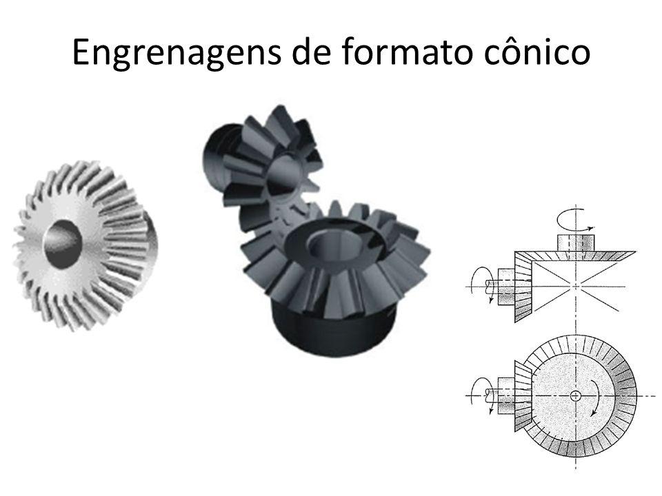 Engrenagens de formato cônico