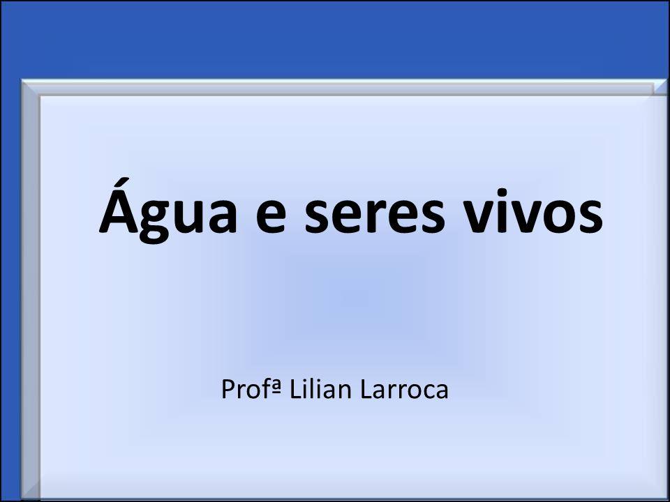 Água e seres vivos Profª Lilian Larroca