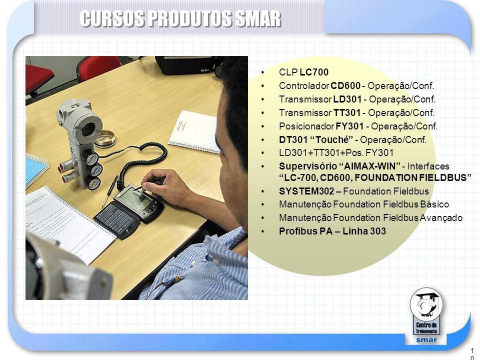 10 CURSOS PRODUTOS SMAR CLP LC700 Controlador CD600 - Operação/Conf.