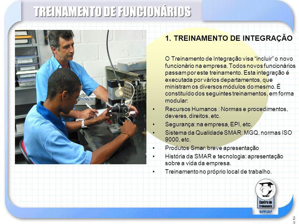 22 TREINAMENTO DE FUNCIONÁRIOS 1.