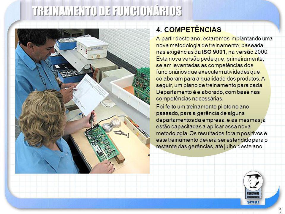 25 TREINAMENTO DE FUNCIONÁRIOS 4.