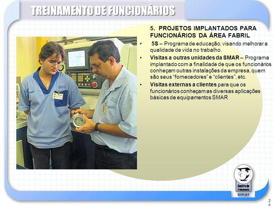 26 TREINAMENTO DE FUNCIONÁRIOS 5.