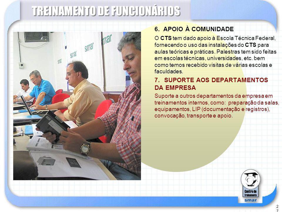 27 TREINAMENTO DE FUNCIONÁRIOS 6.