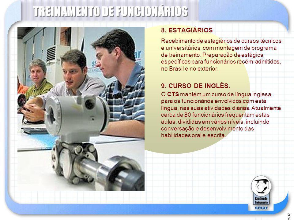 28 TREINAMENTO DE FUNCIONÁRIOS 8.