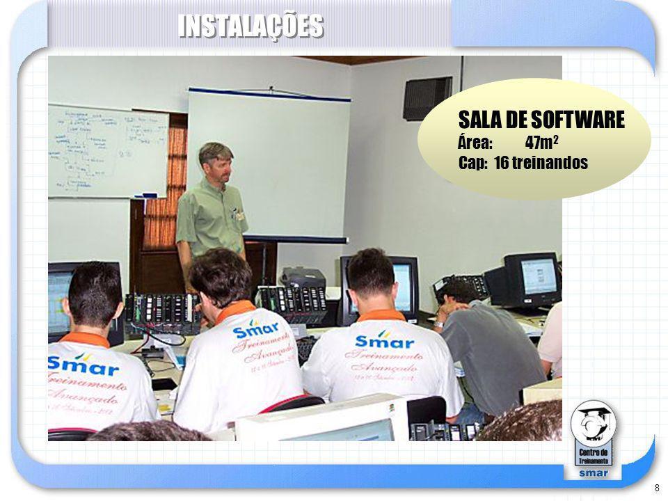 8 INSTALAÇÕES SALA DE SOFTWARE Área: 47m 2 Cap: 16 treinandos