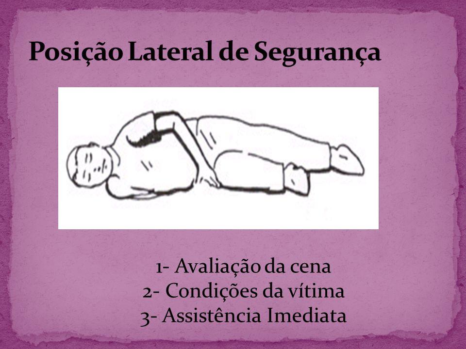 PARADA RESPIRATÓRIA I - SINAIS GRAVES: ausência de movimentos do tórax, arroxeamento da face, inconsciência, imobilidade.