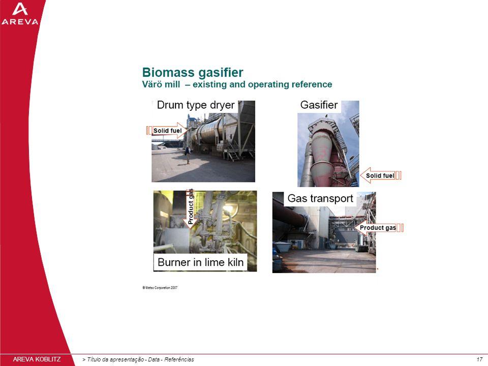 > Título da apresentação - Data - Referências17 AREVA KOBLITZ