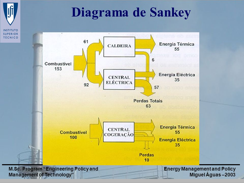 Energy Management and Policy Miguel Águas –2003 M.Sc. Program Engineering Policy and Management of Technology Diagrama de Sankey