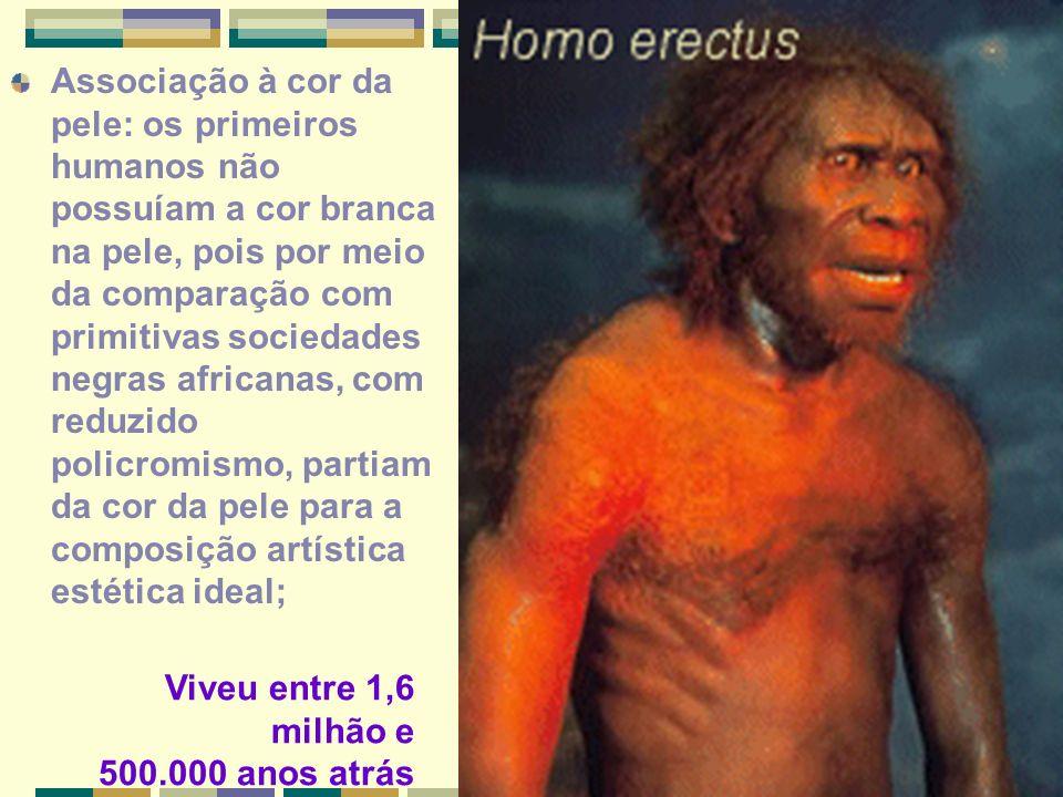 Associação à cor da pele: os primeiros humanos não possuíam a cor branca na pele, pois por meio da comparação com primitivas sociedades negras african