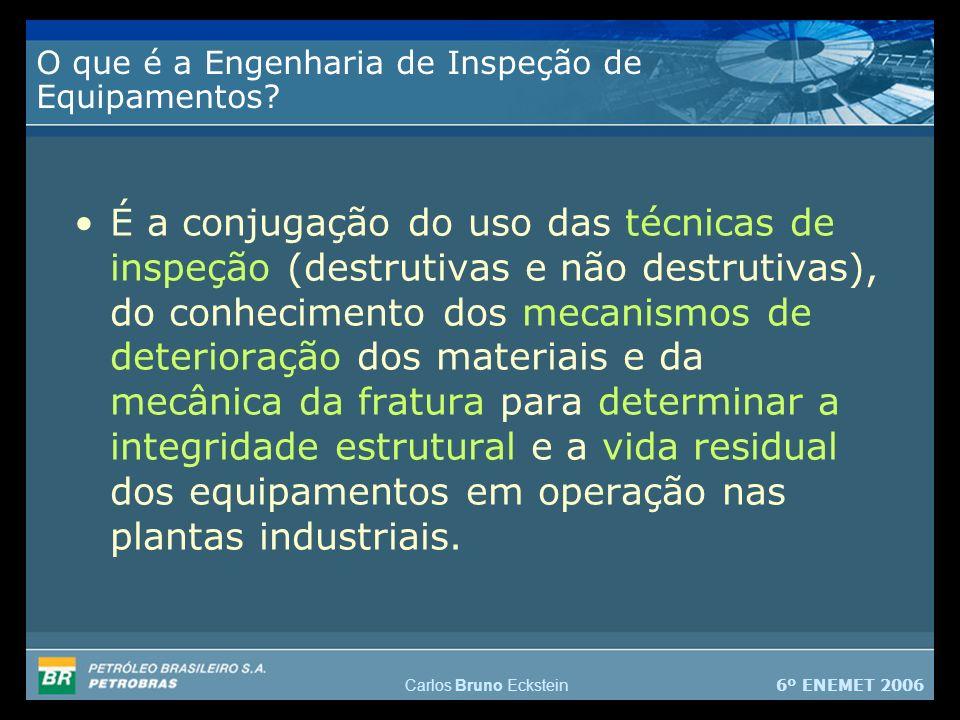 6º ENEMET 2006 Carlos Bruno Eckstein O que é a Engenharia de Inspeção de Equipamentos.