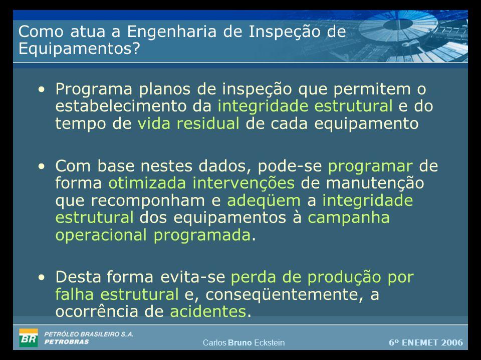 6º ENEMET 2006 Carlos Bruno Eckstein Como atua a Engenharia de Inspeção de Equipamentos.
