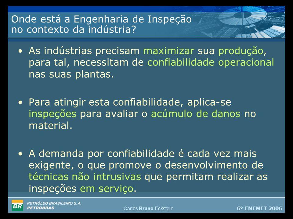 6º ENEMET 2006 Carlos Bruno Eckstein Onde está a Engenharia de Inspeção no contexto da indústria.