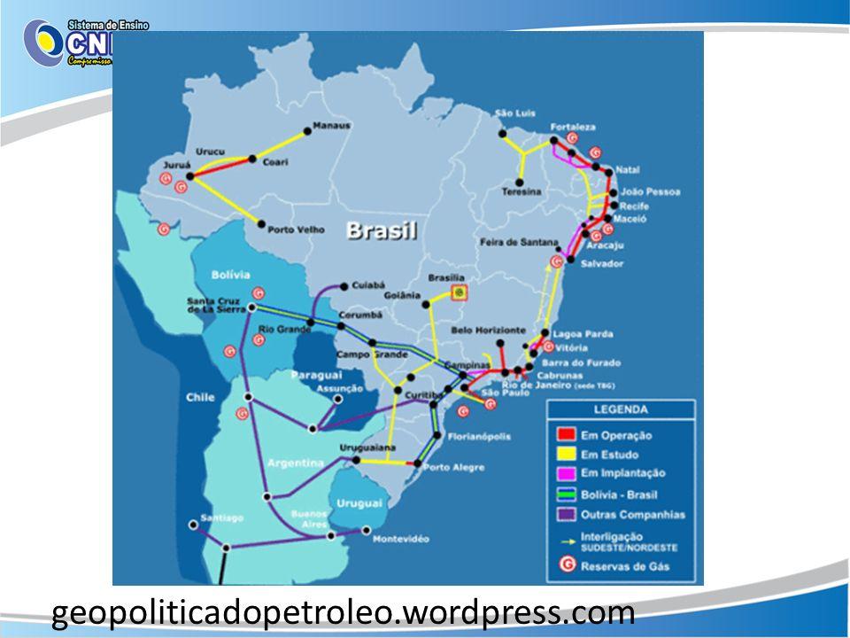 Gasoduto no Brasil Urucu- Coari- Manaus.