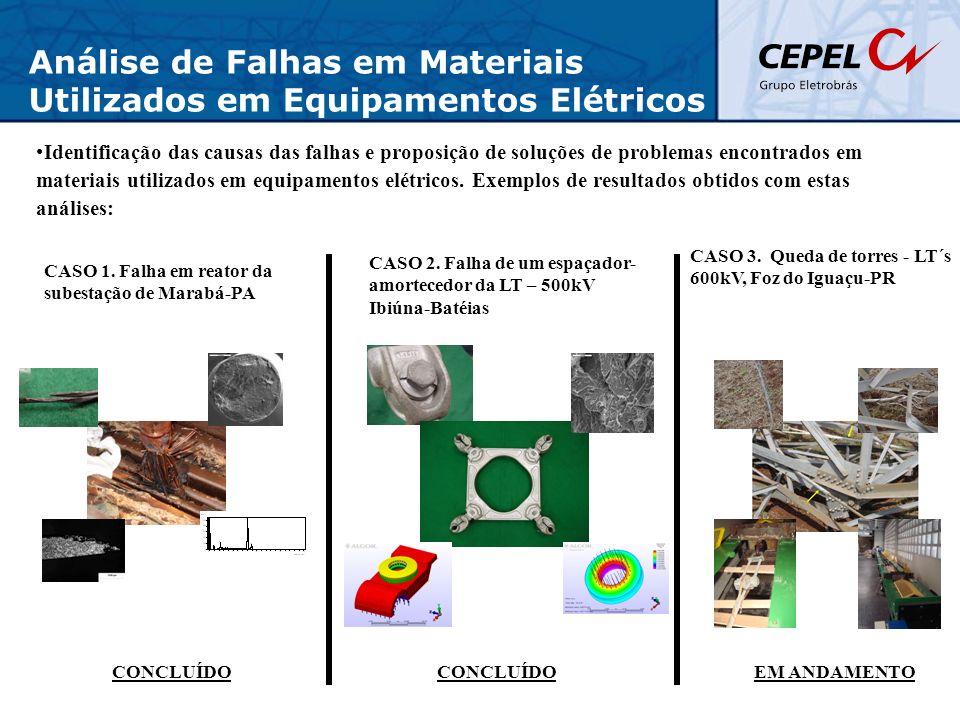 Análise de Falhas em Materiais Utilizados em Equipamentos Elétricos Identificação das causas das falhas e proposição de soluções de problemas encontra
