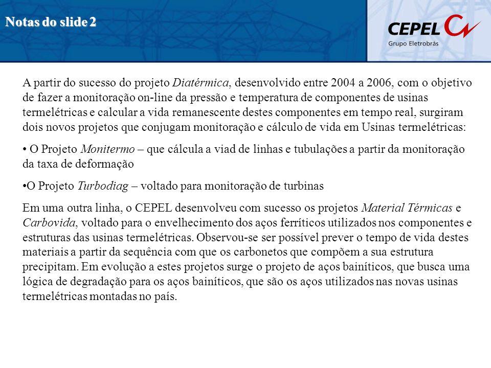Notas do slide 2 A partir do sucesso do projeto Diatérmica, desenvolvido entre 2004 a 2006, com o objetivo de fazer a monitoração on-line da pressão e