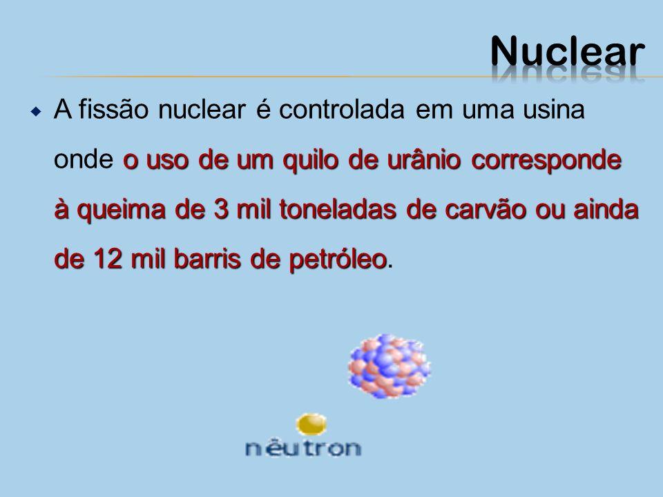 fissãofusão A energia nuclear pode ser obtida em usinas através da fissão (ou quebra) e por fusão (ou colisão) de átomos. urânio São utilizados como m
