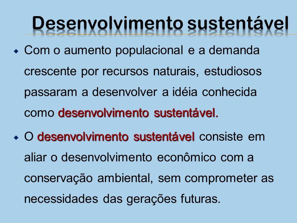 desenvolvimento sustentável.