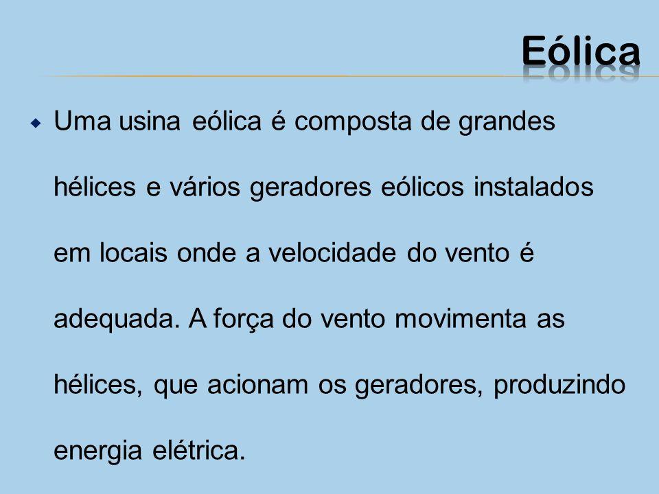 PRÓ: Índice zero de poluição; Útil como fonte complementar de energia em áreas isoladas; CONTRA: Preço proibitivo para uso em larga escala; Só funcion