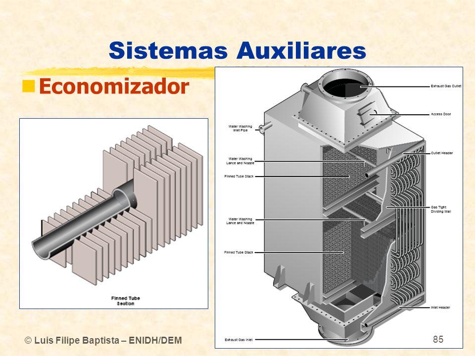 Sistemas Auxiliares Economizador © Luis Filipe Baptista – ENIDH/DEM 85