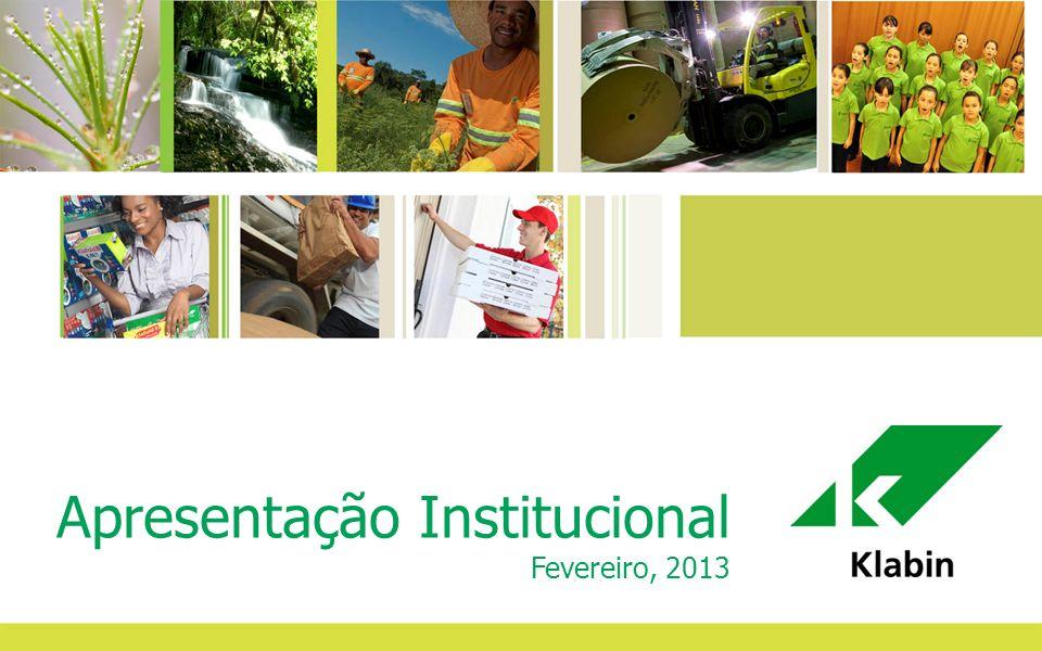 1 Apresentação Institucional Fevereiro, 2013