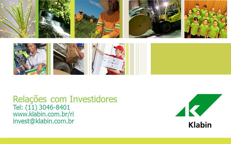 36 Relações com Investidores Tel: (11) 3046-8401 www.klabin.com.br/ri invest@klabin.com.br