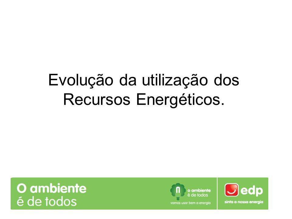 Evolução da utilização dos Recursos Energéticos Em 1850 o valor da percentagem de madeira utilizada foi de cerca de 63%, e em 1985 foi de 0%, devido ao esgotamento deste recurso e à evolução da tecnologia que exige uma fonte de energia mais rentável.