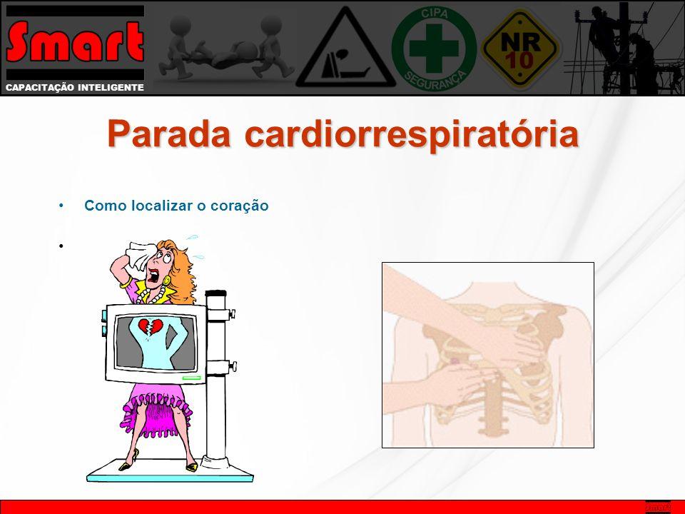CAPACITAÇÃO INTELIGENTE Como localizar o coração Parada cardiorrespiratória